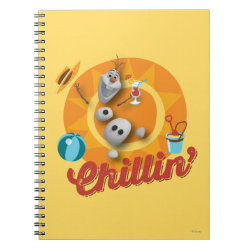 Photo Notebook (6.5' x 8.75', 80 Pages B&W) with Frozen's Olaf the Snowman Chillin' design