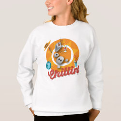 Girls' Hanes ComfortBlend® Sweatshirt with Frozen's Olaf the Snowman Chillin' design