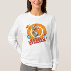 Women's Basic Long Sleeve T-Shirt with Frozen's Olaf the Snowman Chillin' design