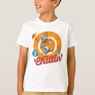 Olaf | Chillin' in Orange Circle T-Shirt