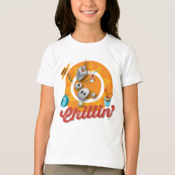 Girls' American Apparel Fine Jersey T-Shirt with Frozen's Olaf the Snowman Chillin' design