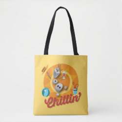 All-Over-Print Tote Bag with Frozen's Olaf the Snowman Chillin' design