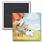 Olaf Chillin' in the Sunshine 2 Inch Square Magnet