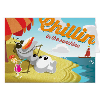 Olaf | Chillin' in the Sunshine Card