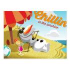 Olaf   Chillin' in the Sunshine Postcard