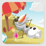 Olaf Chillin' in the Sunshine Square Sticker