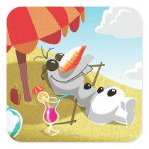Olaf | Chillin' in the Sunshine Square Sticker
