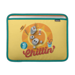 Macbook Air Sleeve with Frozen's Olaf the Snowman Chillin' design