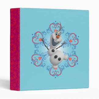Olaf con el marco del corazón