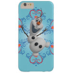 Olaf con el marco del corazón funda de iPhone 6 plus barely there