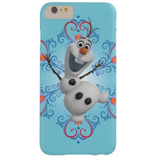 Olaf con el marco del corazón funda para iPhone 6 plus barely there
