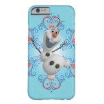 Olaf con el marco del corazón funda de iPhone 6 barely there