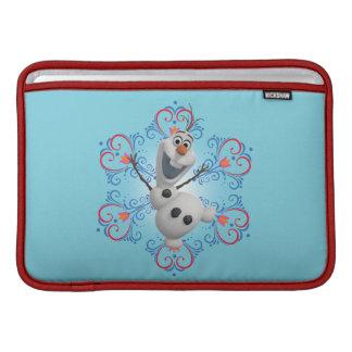 Olaf con el marco del corazón funda  MacBook