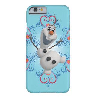 Olaf con el marco del corazón funda para iPhone 6 barely there