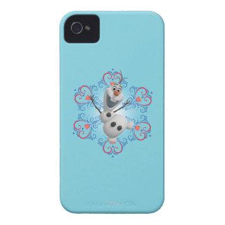 Olaf con el marco del corazón iPhone 4 cárcasa