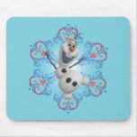 Olaf con el marco del corazón tapete de ratón
