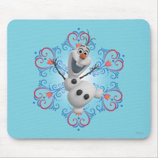 Olaf con el marco del corazón alfombrillas de raton