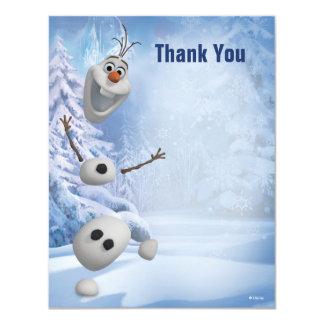 Olaf congelado le agradece invitación 10,8 x 13,9 cm