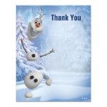 """Olaf congelado le agradece invitación 4.25"""" x 5.5"""""""