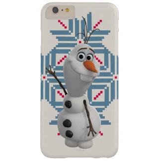 Olaf - copo de nieve azul funda de iPhone 6 plus barely there