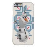 Olaf - copo de nieve azul funda de iPhone 6 barely there