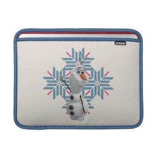 Olaf - copo de nieve azul fundas MacBook