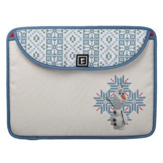 Olaf - copo de nieve azul funda para macbooks