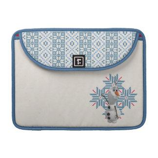 Olaf - copo de nieve azul fundas macbook pro