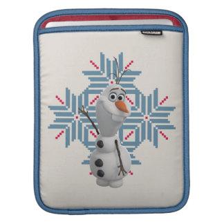 Olaf - copo de nieve azul mangas de iPad