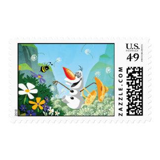 Olaf el | celebra verano timbre postal