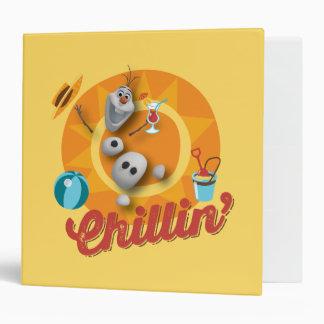 """Olaf el   Chillin en círculo anaranjado Carpeta 2"""""""