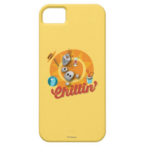 Olaf el | Chillin en círculo anaranjado Funda Para iPhone SE/5/5s
