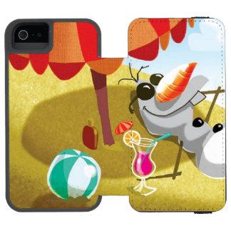 Olaf el | Chillin en la sol Funda Billetera Para iPhone 5 Watson