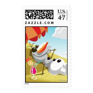 Olaf el | Chillin en la sol Sello Postal
