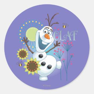 Olaf el   es un día perfecto pegatina redonda