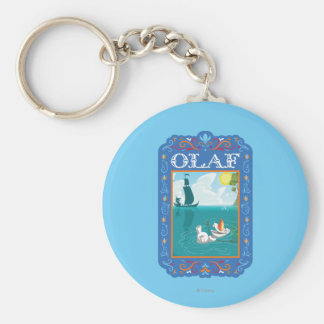 Olaf el | que flota en el agua llavero redondo tipo pin