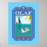 Olaf el | que flota en el agua póster