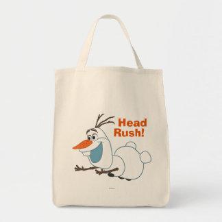 Olaf el | que resbala bolsa tela para la compra