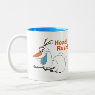Olaf el | que resbala taza de dos tonos