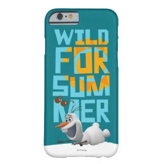 Olaf el | salvaje para el verano con el círculo funda de iPhone 6 barely there