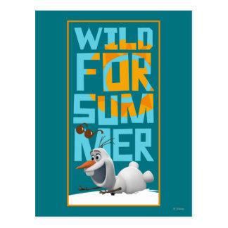Olaf el | salvaje para el verano con el círculo postal