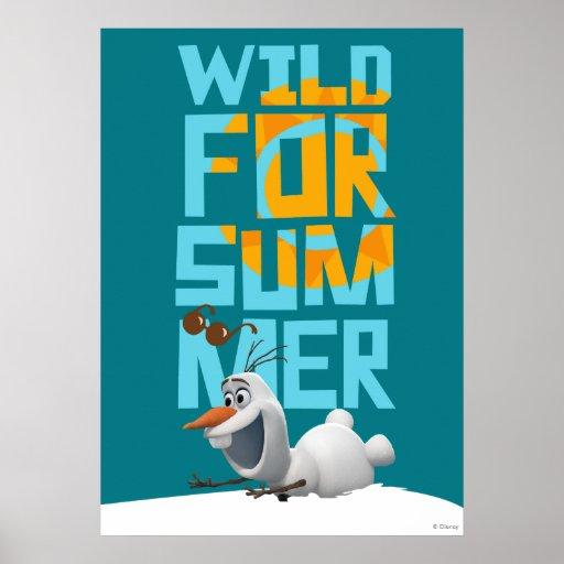 Olaf el   salvaje para el verano con el círculo póster
