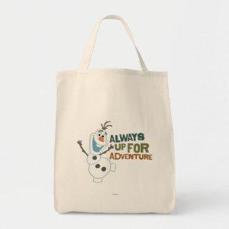 Olaf el | siempre para arriba para la aventura bolsa tela para la compra