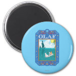 Olaf Floating in the Water 2 Inch Round Magnet
