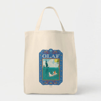 Olaf Floating in the Water Grocery Tote Bag