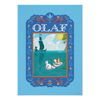 Olaf Floating in the Water Poster