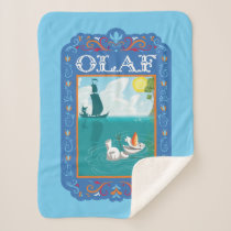 Olaf | Floating in the Water Sherpa Blanket