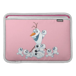 Macbook Air Sleeve with Olaf With Snowgies design