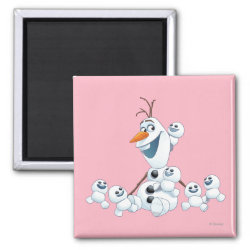 Square Magnet with Olaf With Snowgies design