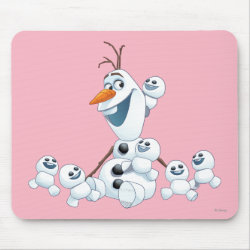 Mousepad with Olaf With Snowgies design